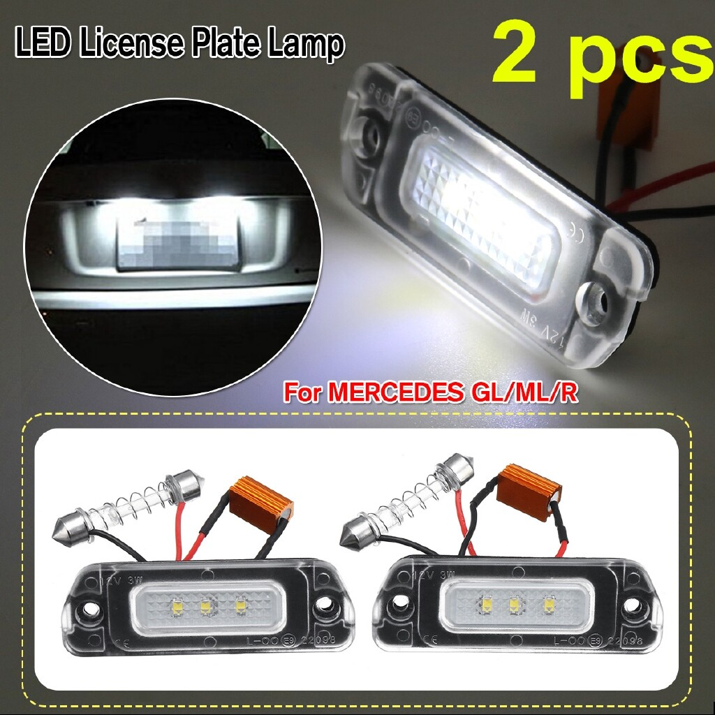 Car Lights - 2 PIECE(s) 18 LED License Plate Number Lights Lamp For MERCEDES R ML GL W251 W164 X164 - Replacement Parts