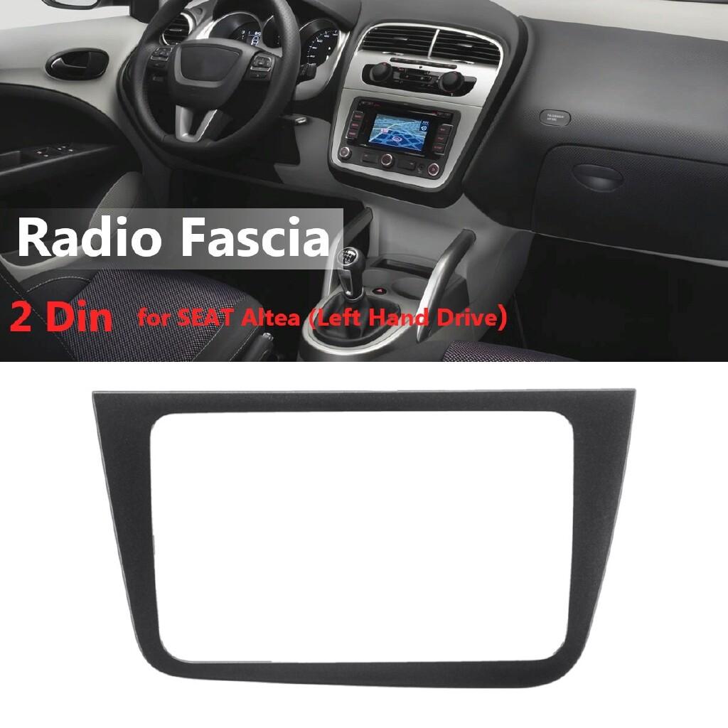 Car Radios - Car Radio Fascia Panel Plate Frame CD Dashboard Audio Frame for SEAT Altea Left - Electronics
