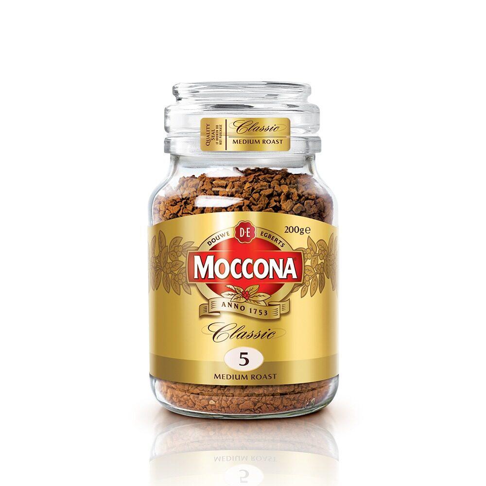 Moccona Classic Medium Roast Freeze Dried 5 Coffee 200g x 1 Jar