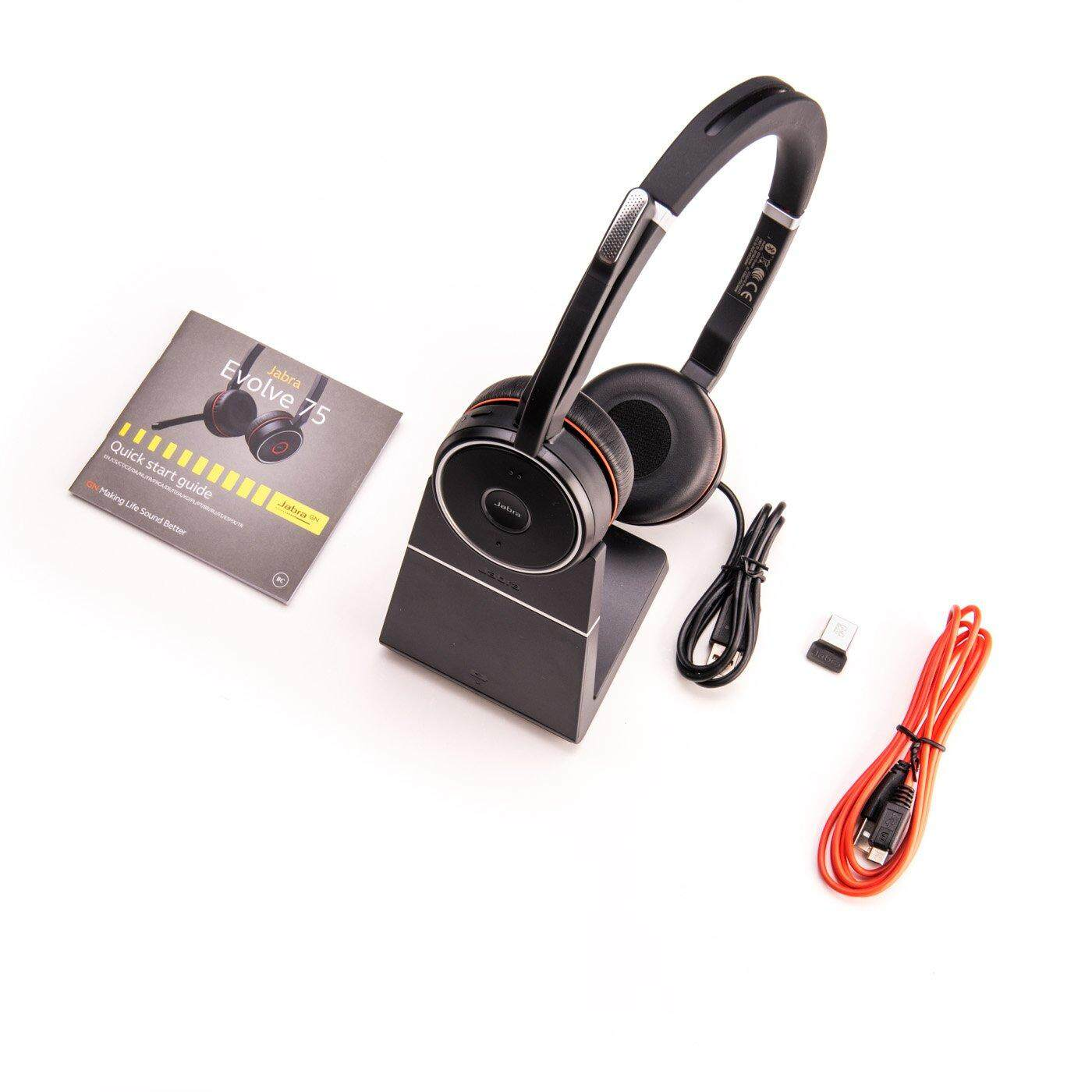 Ready Stock Jabra Evolve 75 Stereo Ms Include Charging Stand Link 370 Office Headset