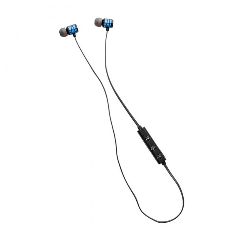 On-Ear Headphones - Cagabi SE100 WIRELESS BLUETOOTH Earphone Magnetic Adsorption Stereo Sports Headphone with Mic - RED / SILVER / BLUE