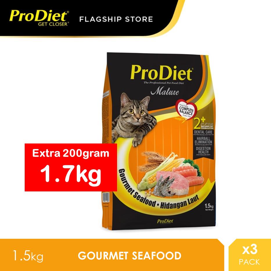 ProDiet 1.5KG Gourmet Seafood Dry Cat Food x 3 Packs [makanan kucing]