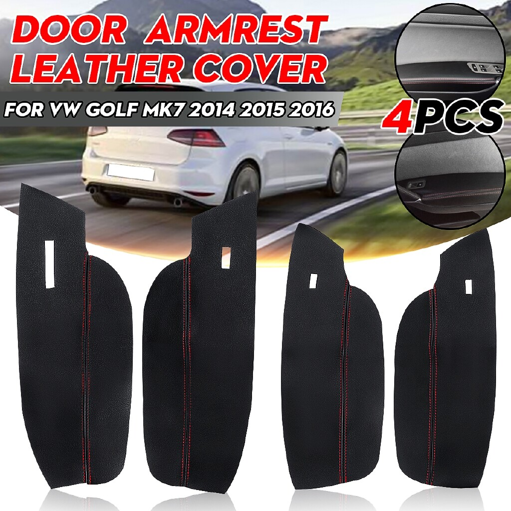 Car Accessories - 4 PIECE(s) Interior Door Armrest Covers PU Leather For VW Golf MK7 2014 2014-2016 LHD - Automotive