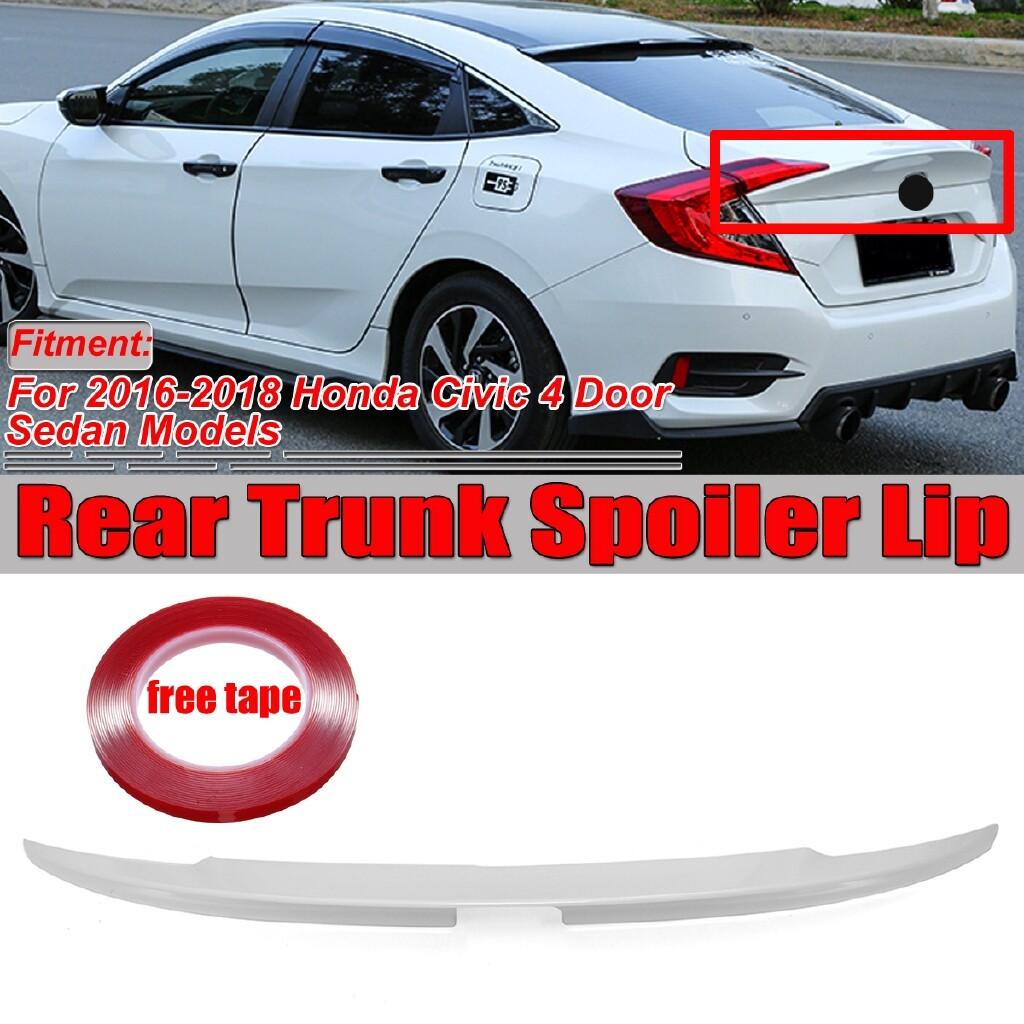 Automotive Tools & Equipment - Painted Finish Trunk Spoiler Lip For 2016- Honda Civic Sedan Painted Platinum Pearl MCX - Car Replacement Parts