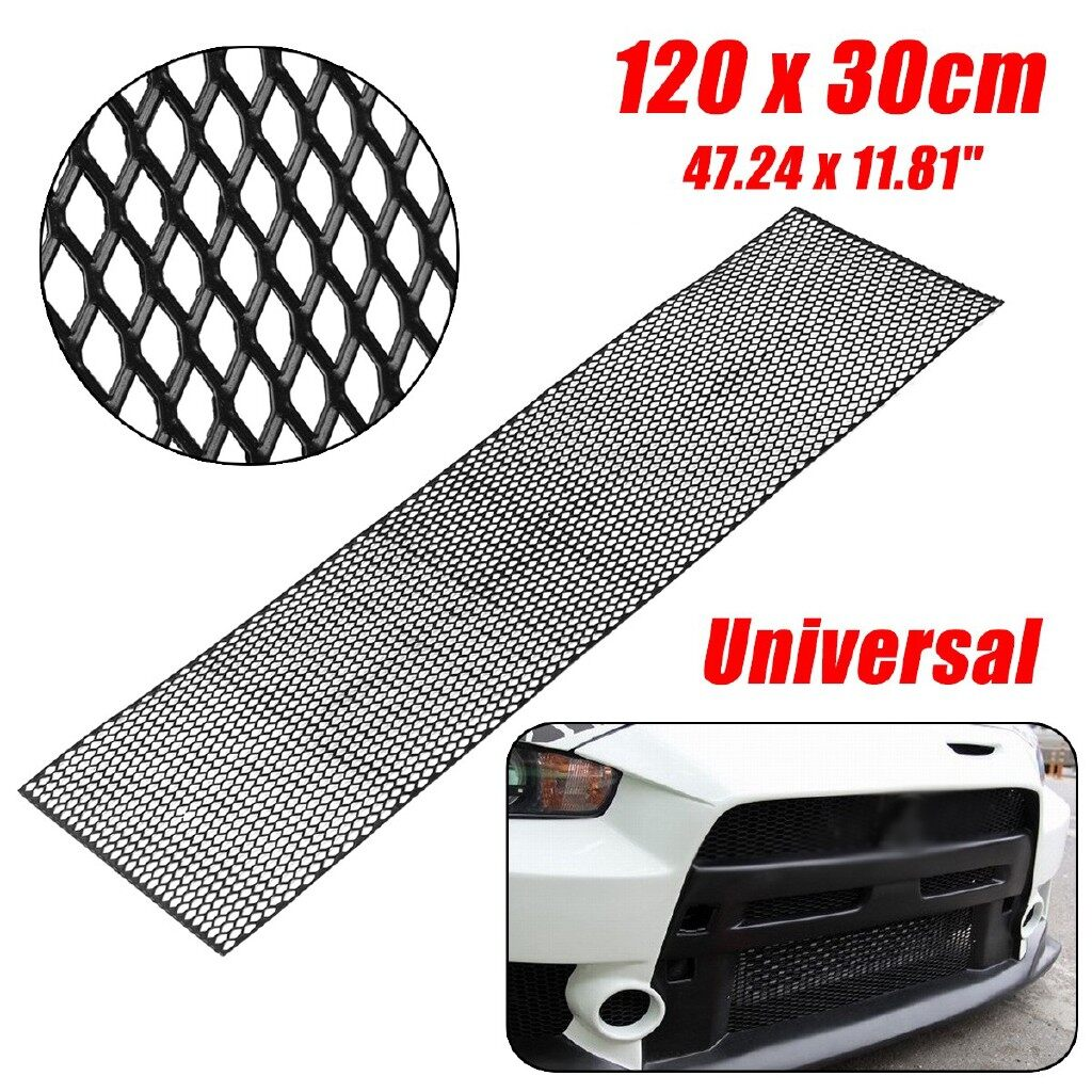 Engine Parts - Universal ABS Plastic Racing Honeycomb Mesh Grill Spoiler Bumper Vent 120x30cm - Car Replacement