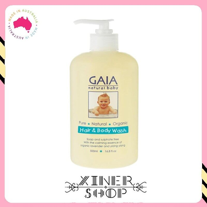 [Pre Order] GAIA Natural Baby Hair & Body Wash ( 500ml )(Made in Australia)