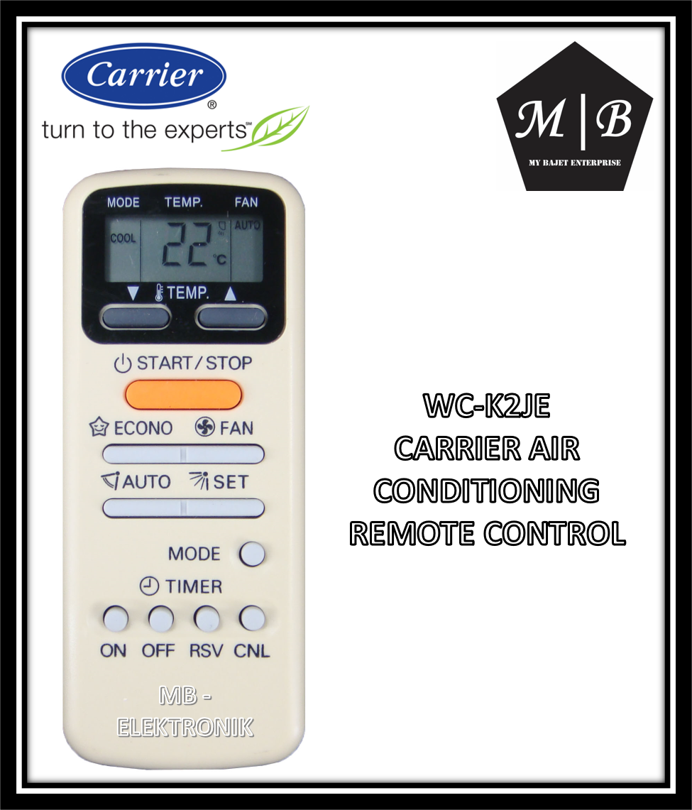 CARRIER/TOSHIBA AIR CONDITIONING / AIRCOND / AIR COND REMOTE CONTROL WC-K12JE WC-K4JE WC-E1BE WC-K2JE