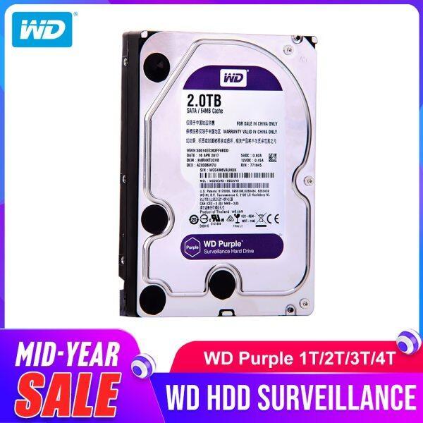 Giá Western Digital WD Tím HDD 1TB 2TB 3TB 4TB SATA 6.0 Gb/giây 3.5 Ổ Đĩa Cứng Cho Camera CCTV AHD DVR IP NVR