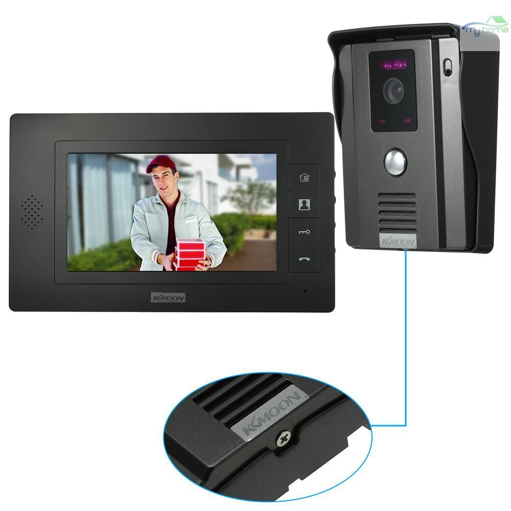 DIY Tools - 7 inch Wired Video Doorbell with Visual Two-way Audio Intercom IR-CUT Night Vision - Home Improvement