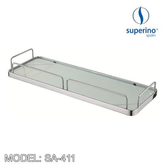SUPERINO SA 411 RECTANGULAR GLASS BASKET 16