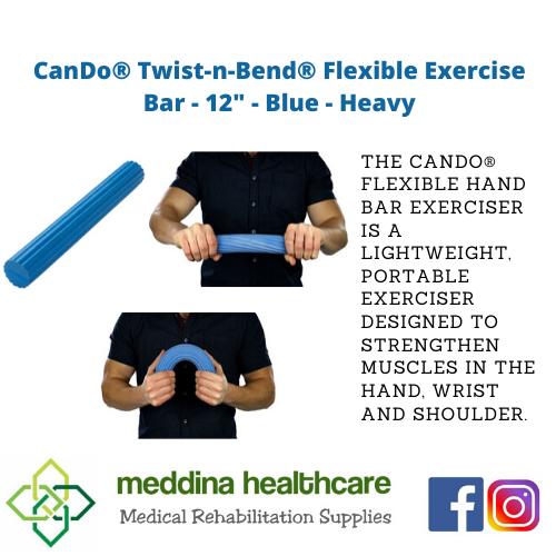 """(CANDO BRAND) Flexible Exercise Bar - 12"""" - Blue - Heavy"""