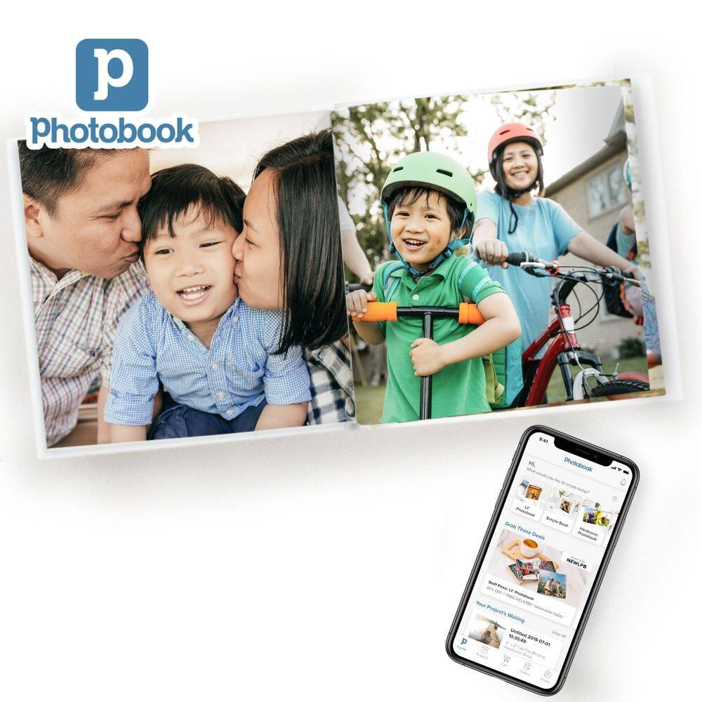 [e-Voucher][Photobook App Exclusive] 8x8 Small Square Imagewrap Lay Flat Hardcover Photobook, 20 pages