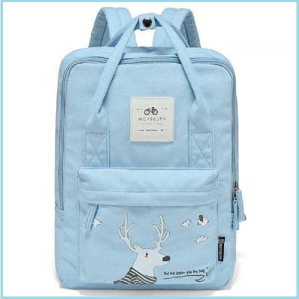 ULZ Modern Korea Style Canvas Girls Secondary School Bag