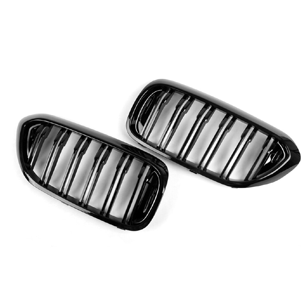 Automotive Tools & Equipment - Grille For BMW 5 Series G30 G31 G38 2017-18 Front Kidney Double Bar Gloss Black - Car Replacement Parts