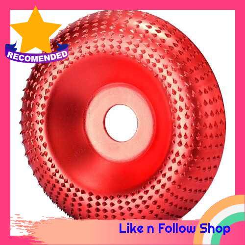 NO.45 Steel Wood Angle Grinding Wheel Sanding Carving Rotary Tool Abrasive Disc for Angle Grinder (Red)
