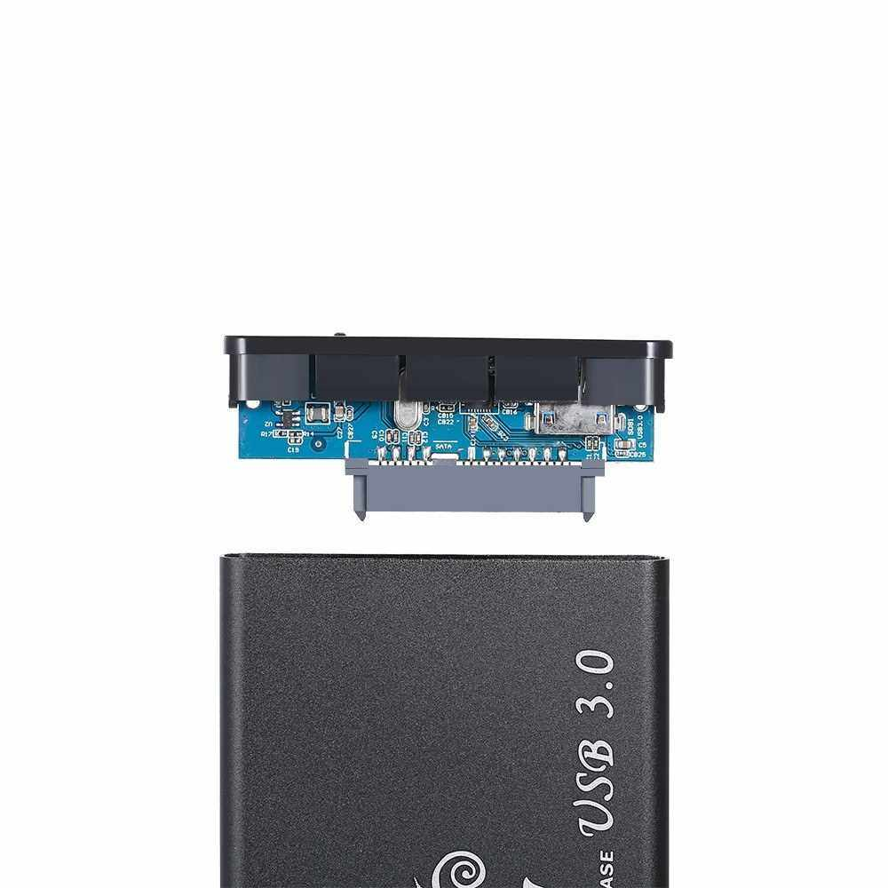 2.5 Inch HDD Case SATA HDD to USB3.0 Converter Adapter External Case 3TB Hard Disk Drive Box External HDD Enclosure(Black) (Black)