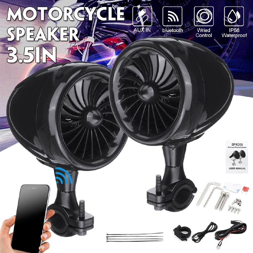 Moto Accessories - 3.5 Motorcycle Stereo Speaker 300W Motorcycle Stereo Speakers MP3 Amplifier Motorcycle Audio - Motorcycles, Parts