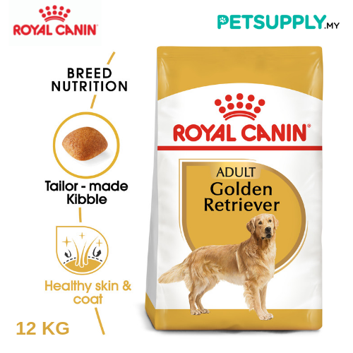 Royal Canin Dry Dog Food Golden Retriever Adult 12kg [makanan anjing - PETSUPPLY.MY]