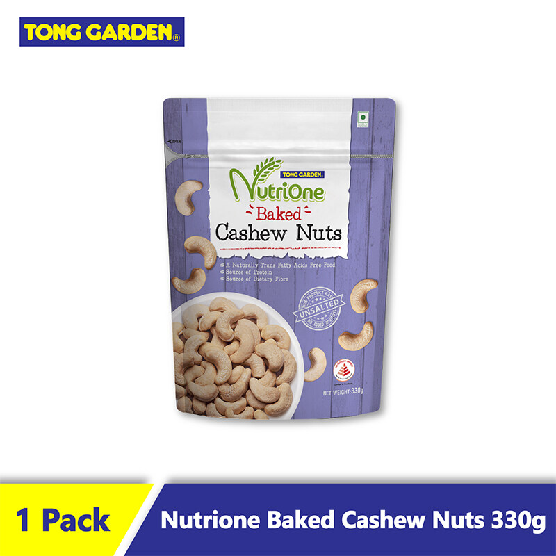 Nutrione Baked Cashew Nuts Unsalted 330g