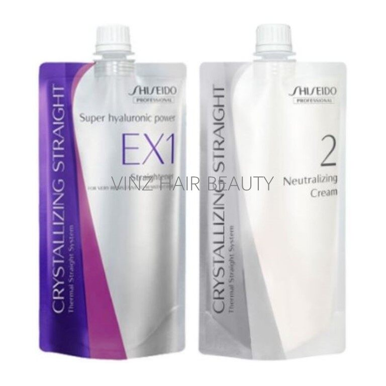 Shiseido Crystallizing Straight EX1 Rebonding & Neutralizer Cream 400ml + 400ml