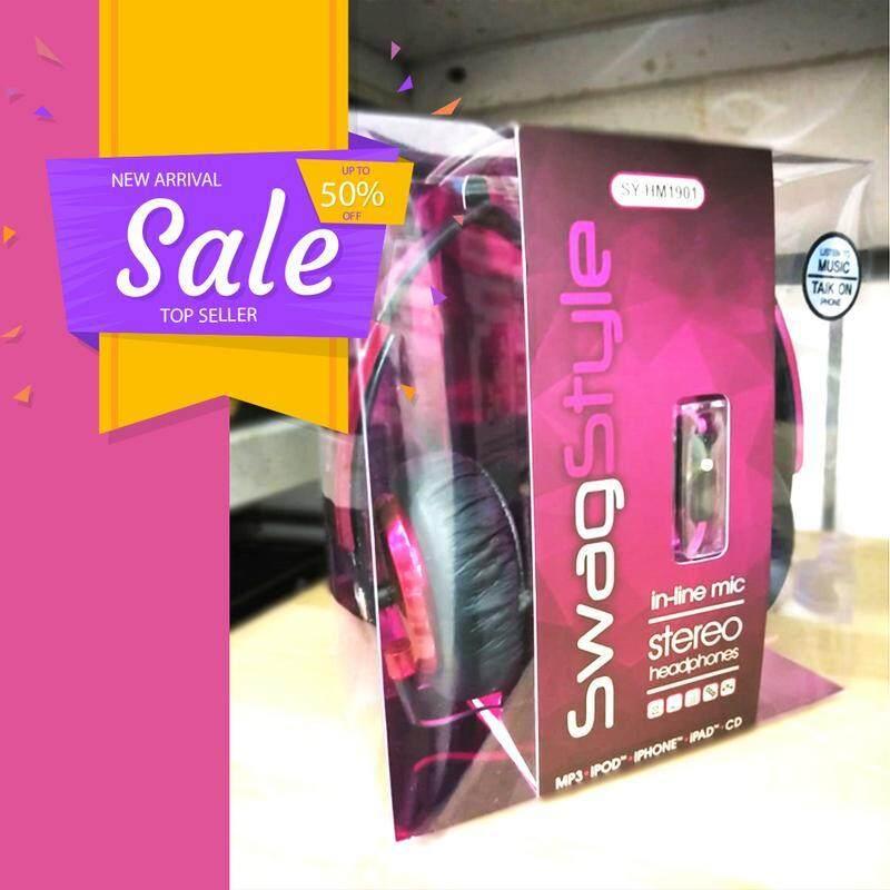 Big Bluetooth Swag Style Headphones SY-HM1901 High Quality (Fresh Import) BLACK
