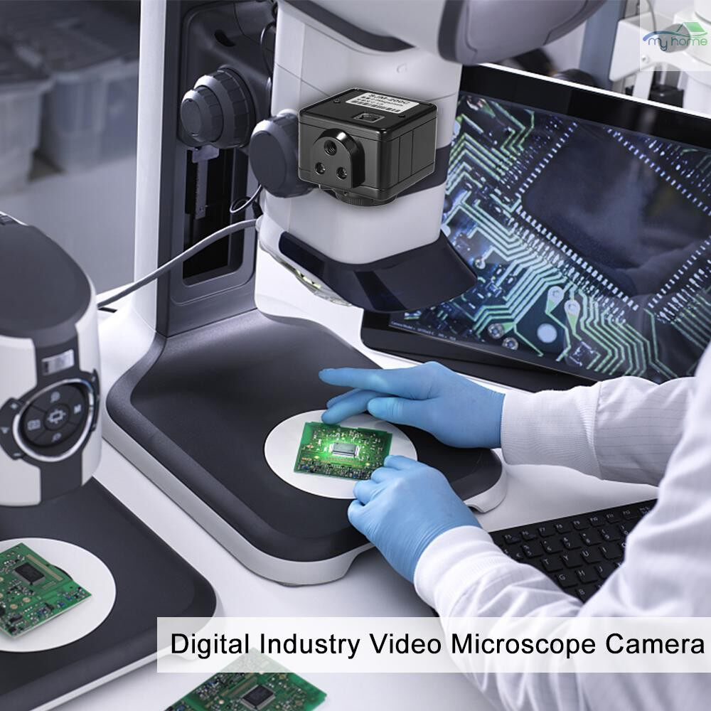 CCTV Security Cameras - 1080P 2.0MP 1/3 Digital USB2.0 Outputs Industry Microscope Camera For Lab / Phone PCB Soldering - BLACK-200C