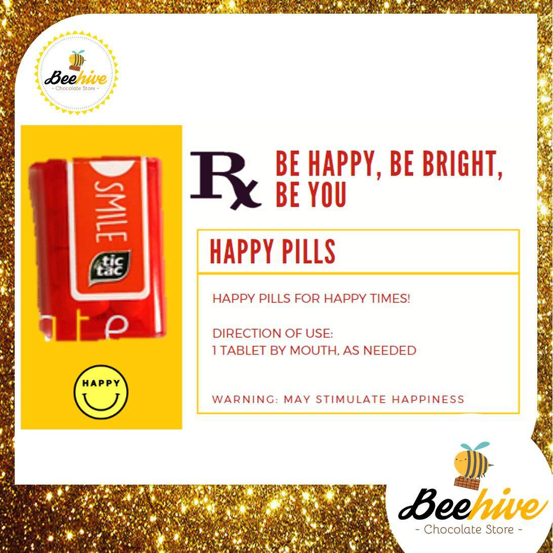 Beehive Orange / Passion Fruit Peach Tic Tac Mini Happy Pills Surprise Gift