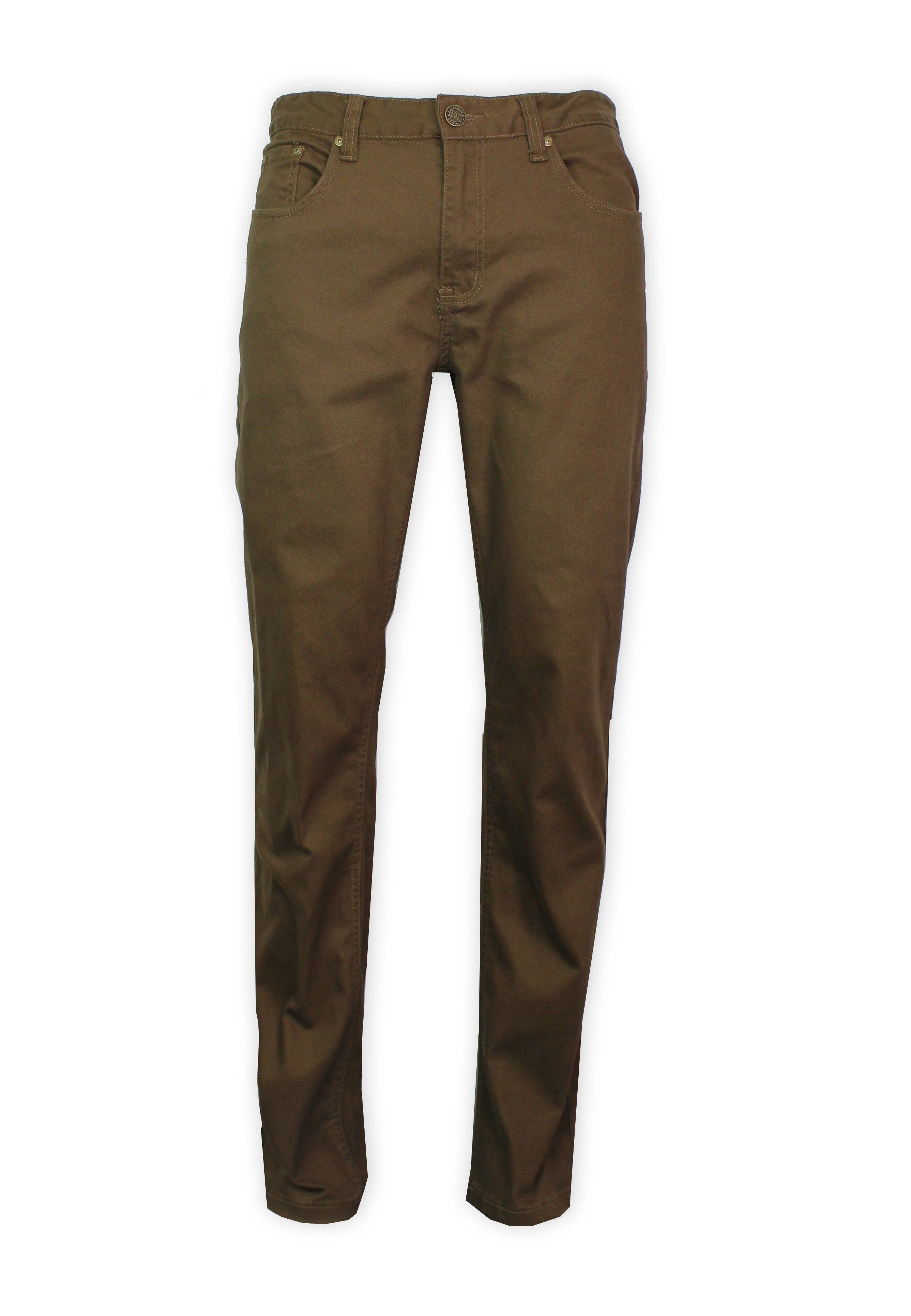 Exhaust Stretch Straight Cut Cotton Pants 984