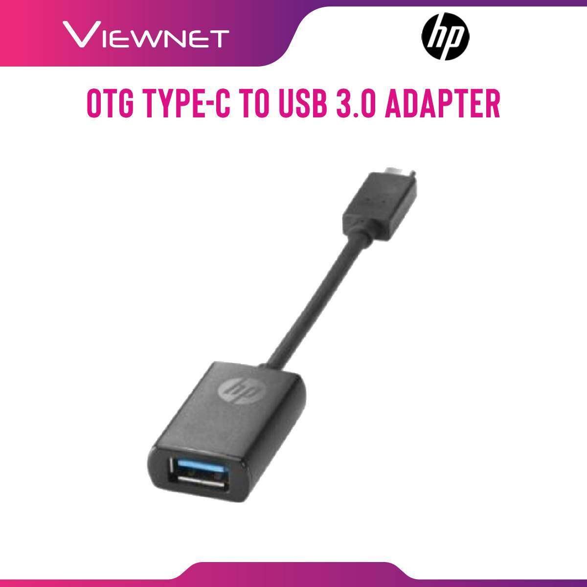 HP OTG Type-C To USB 3.0 (P7Z56AA#UUF) Black Adapter