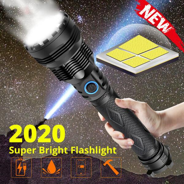 Bảng giá Đèn Pin LED 4 Nhân Mạnh Nhất Mới Nhất 2021, XLamp Đèn Pin LED 3 Chế Độ Chiếu Sáng Có Thể Phóng To XHP70.2 Đèn Cắm Trại 18650 Hoặc 26650