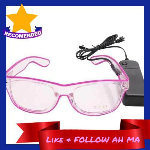 Best Selling LED Glasses 10 Colors Optional Light Up El Wire Neon Rave Glasses Twinkle Glowing Party Club Holiday Bar Decorative Glasses (Purple)