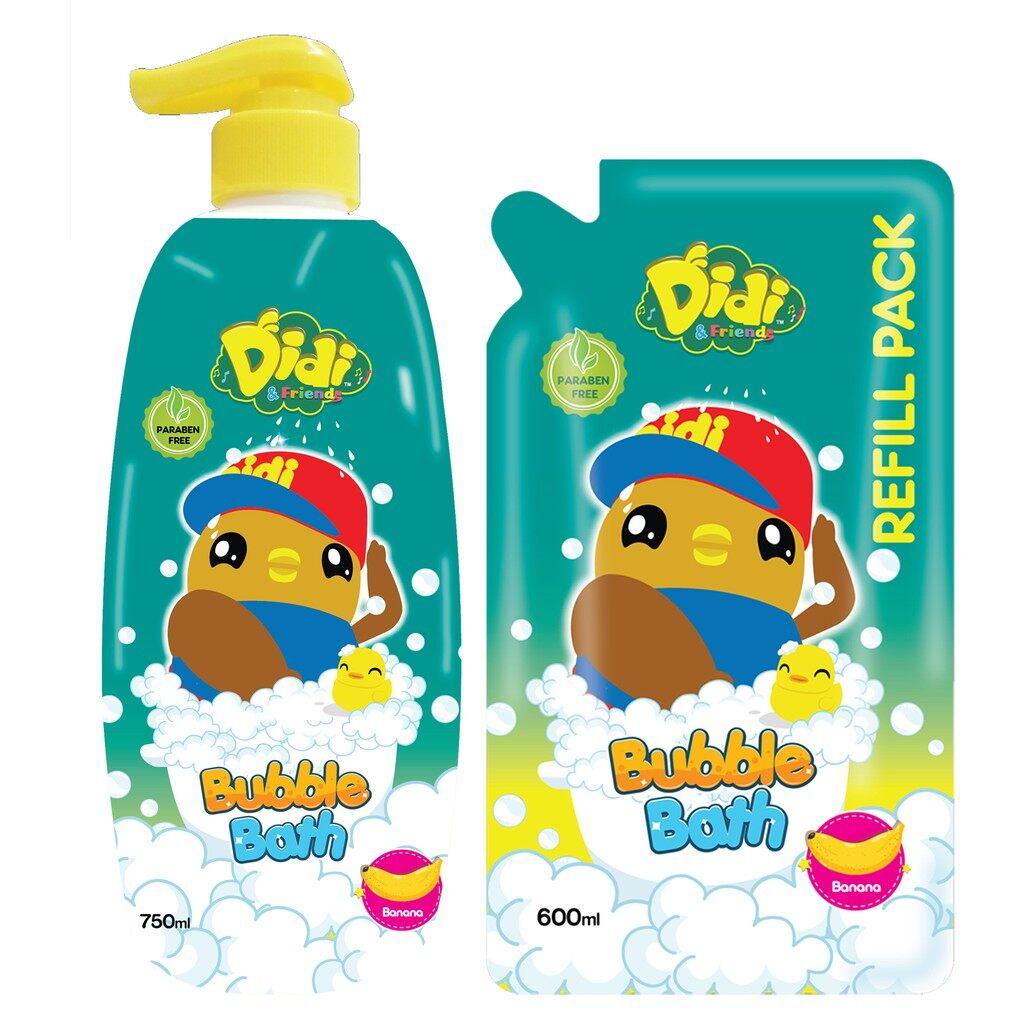 (Value Combo) Didi and Friends Banana Head to Toe Bubble Bath [750ml + 600ml]