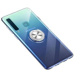 Dành Cho Samsung Galaxy A9 2018 Ốp Lưng Silicon Mềm Siêu Mỏng Trong Suốt 6.3 Inch Có Giá Đỡ Nhẫn Vỏ Từ Tính Cho Xe Ô Tô thumbnail