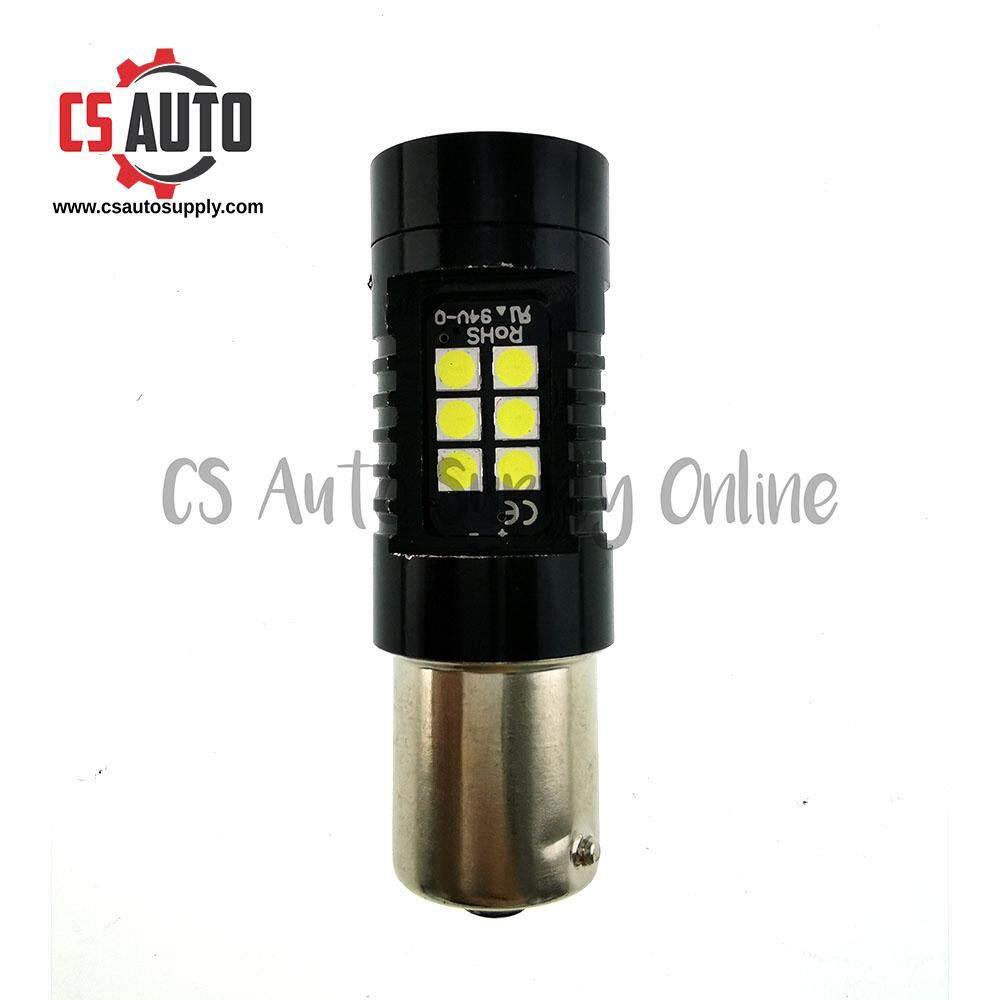 [cs auto] Led 1141 12V 24V 1156 21smd Bulb White for Lorry Truck Signal Tail Light Satu titik Super Bright