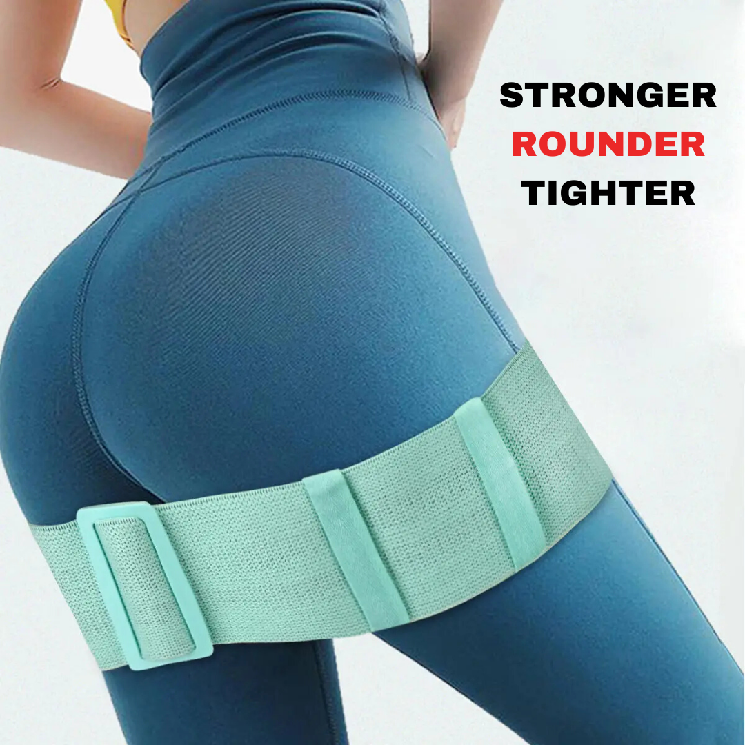 FITUALIZED Adjustable Booty Band for Stronger, Rounder & Tighter Butt- Multiple Resistance for More Results- Comfy Fabric Non-Slip for Enjoyable Glutes Workout, Exercise & Training at Home or Gym - aka Hip Circles & Glute Loops - Strengthen Yo