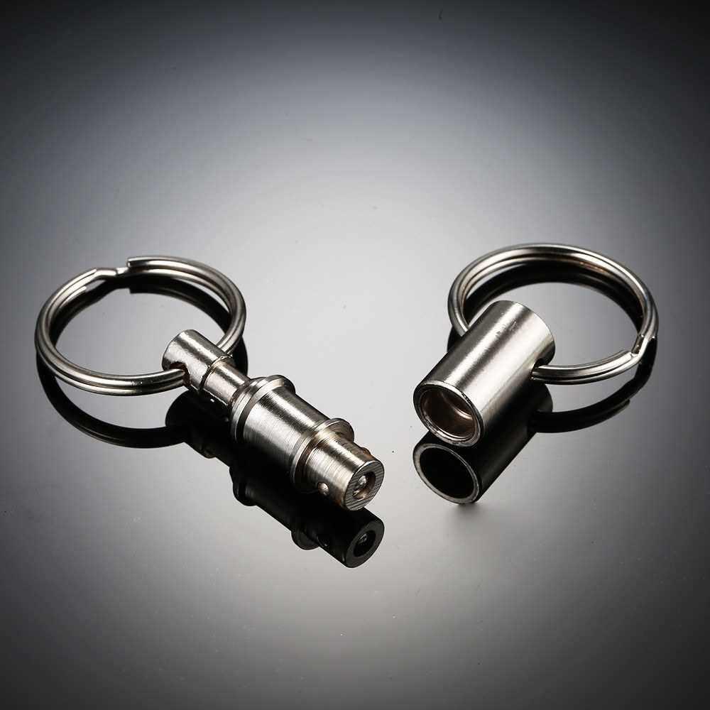 2 Pcs Detachable Pull Apart Key Rings Keychains