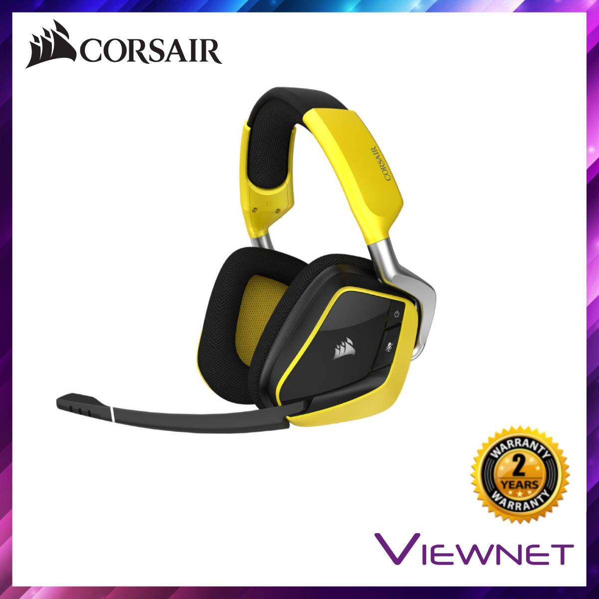Corsair Void Pro RGB Wireless SE Premium Gaming Headset with Dolby Yellow Headphone 7.1 (CA-9011150-AP)