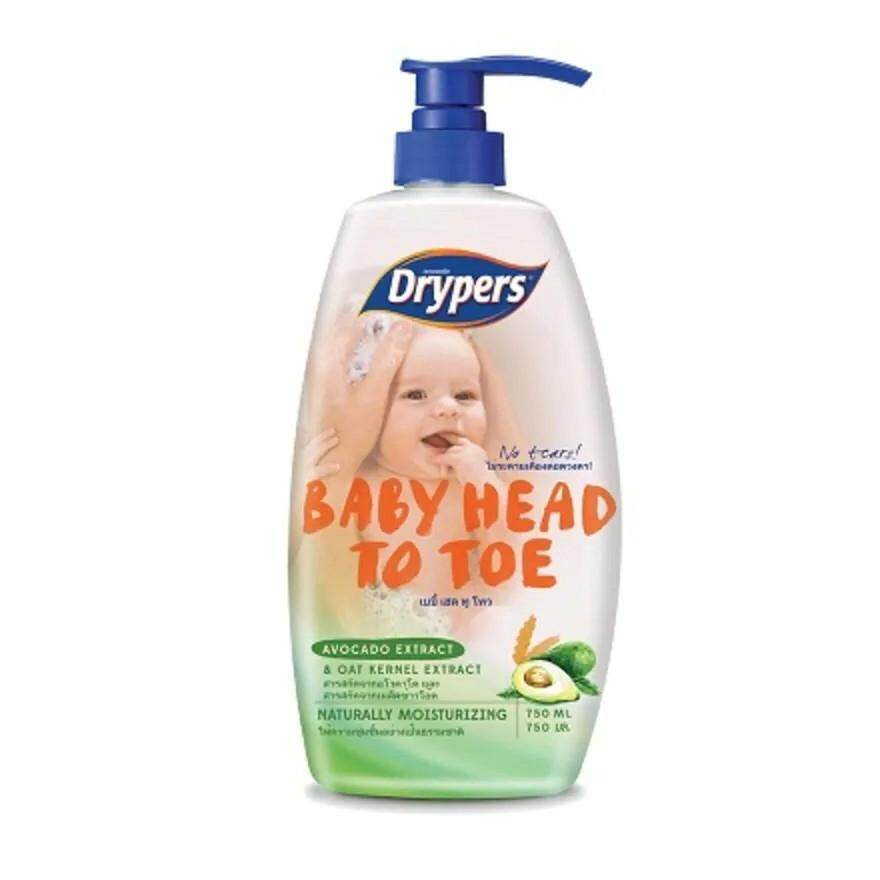 Drypers Baby Head To Toe (750ml) READY STOCK