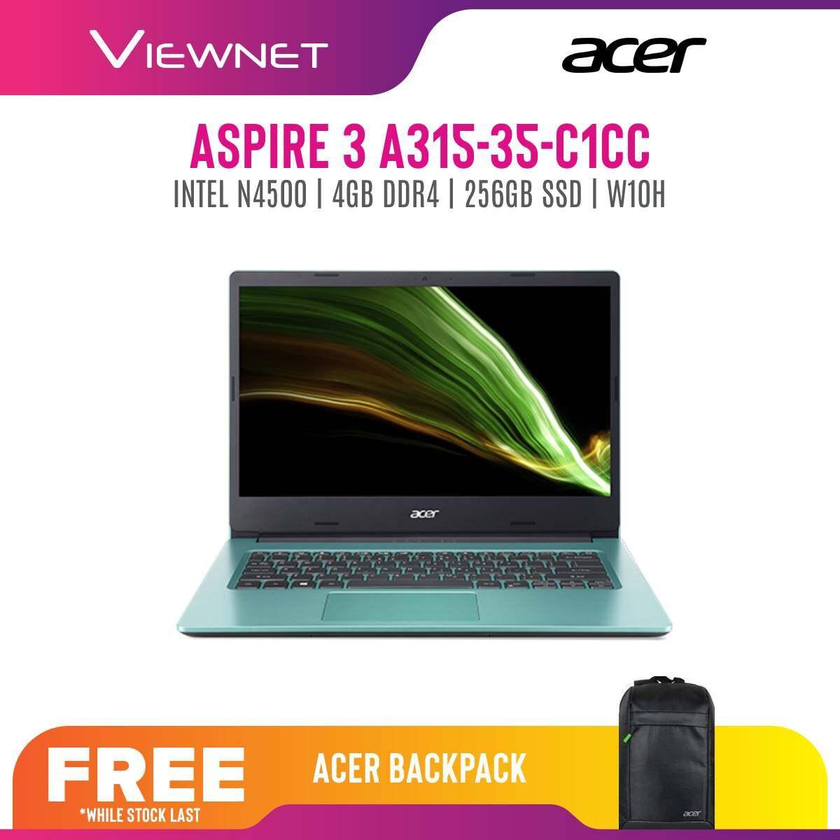 Acer Aspire 3 A315-35-C1CC / A315-35-C4BK 15.6'' laptop (Celeron N4500, 4GB, 256GB, Intel, W10)