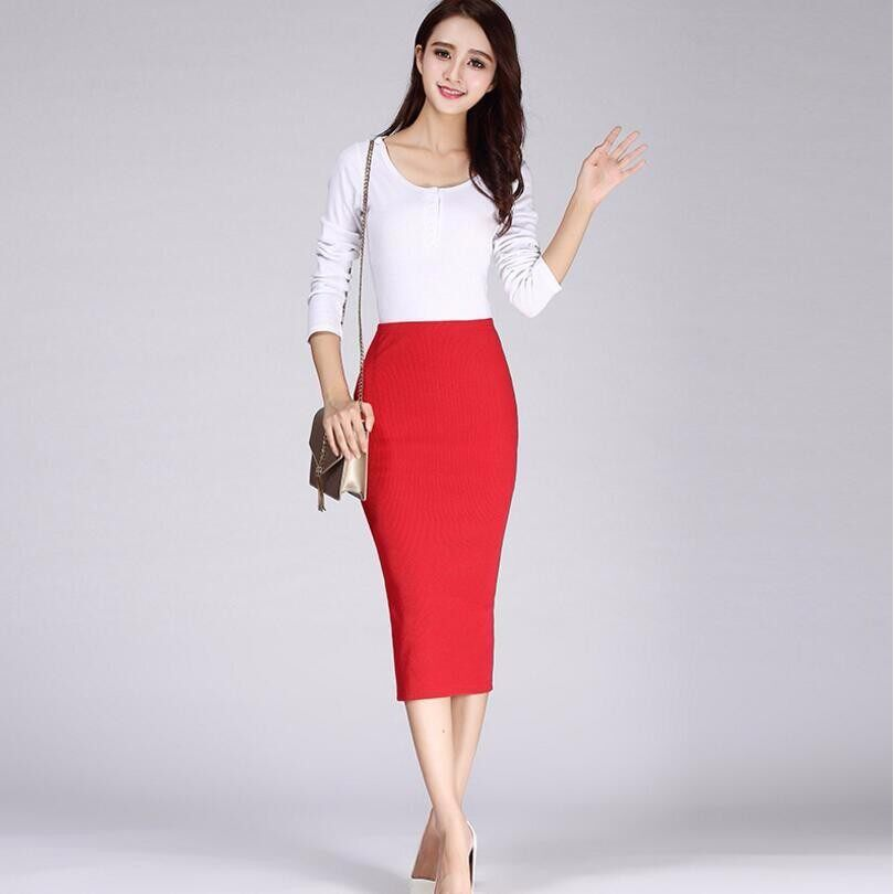 High Quality Solid Color Package Hip Skirt Rib Knitted Trade Package Hip After Split Half Skirt Spring Package Hip Skirt