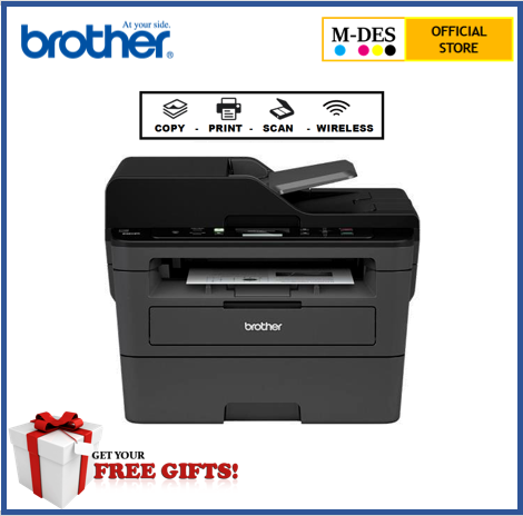 Brother DCP-L2550DW Wireless Duplex Mono Laser Printer [+ 1 unit ori toner]