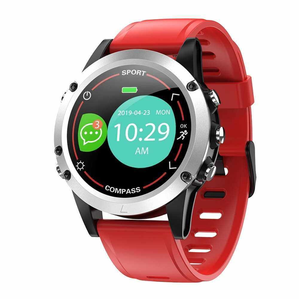 X5 Smart Watch Bluetooth Sports Bracelet Heart Rate Sleep Blood Pressure Monitoring APP Control for Outdoor Sports Multi-sport Modes (Red)
