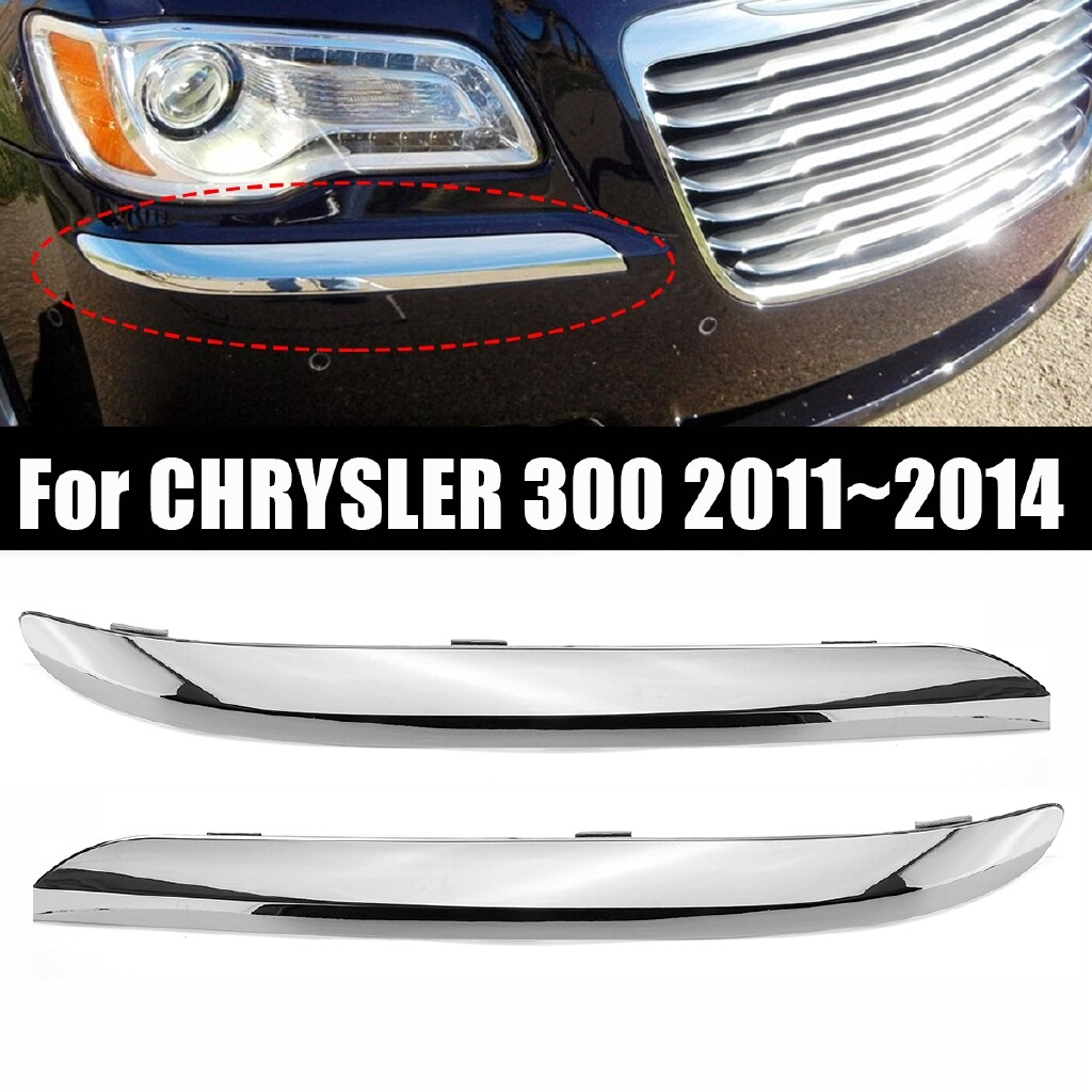 Automotive Tools & Equipment - 2 PIECE(s) Front Bumper Molding Trim For CHRYSLER 300 SEDAN W/O SRT-8 MODEL 20112014 - Car Replacement Parts
