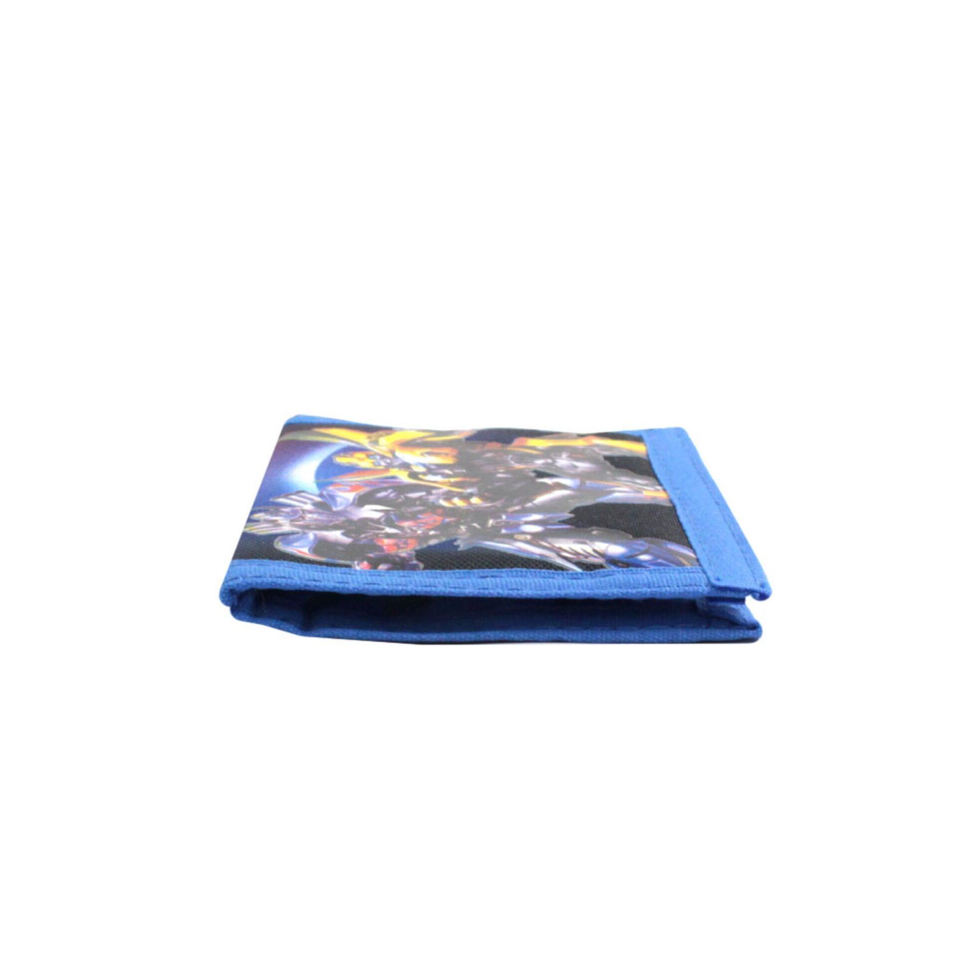 Transformers Bumblebee 2 Fold Kids Boys Blue Wallet