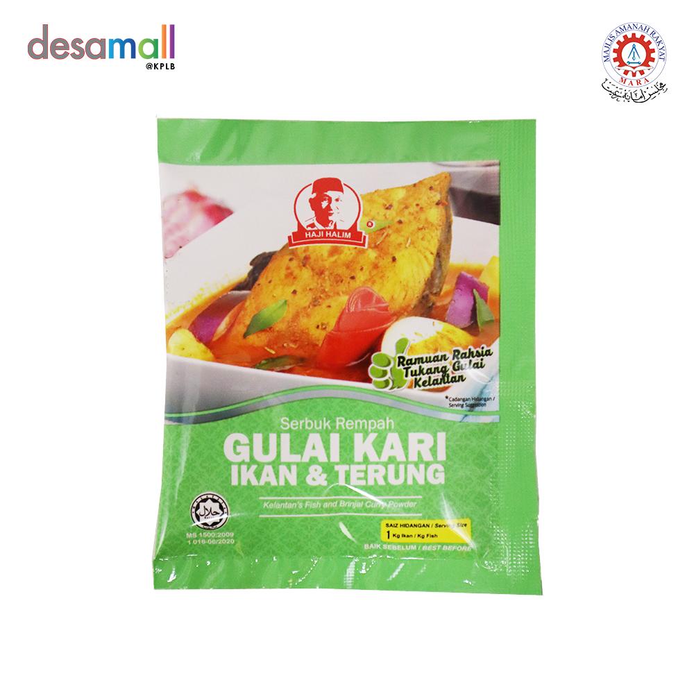REMPAH HAJI HALIM Gulai Kari Ikan & Terung (25g)