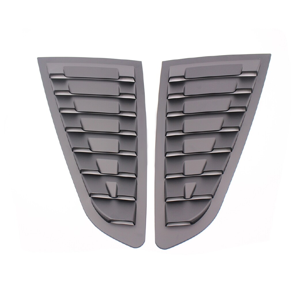 Car Lights - Matte Black Side Vent Window Scoop Louver Cover Trim For Ford Mustang 2015- - Replacement Parts