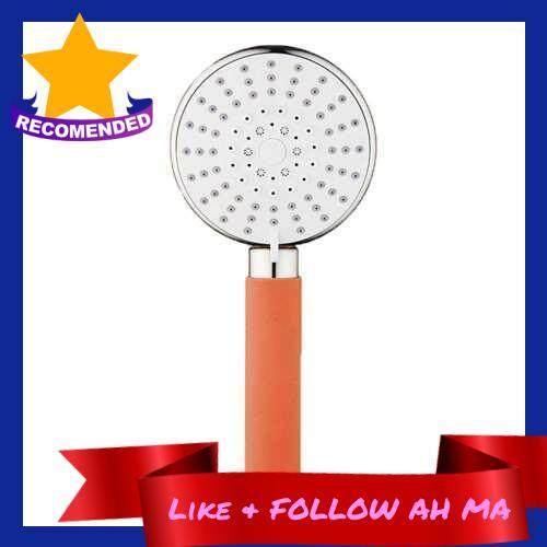 Best Selling Shower Head High Pressure 5 Spray Settings Hand Held Showerhead 120mm Large Shower Spray (Orange)