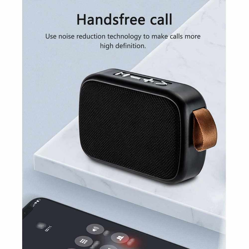 Best Selling Portable Wirelessly BT Speaker Outdoor Speakers HIFI Sound Quality Subwoofer Built-in FM Radio Hands-Free Call for Camping Travel Hiking (Red)