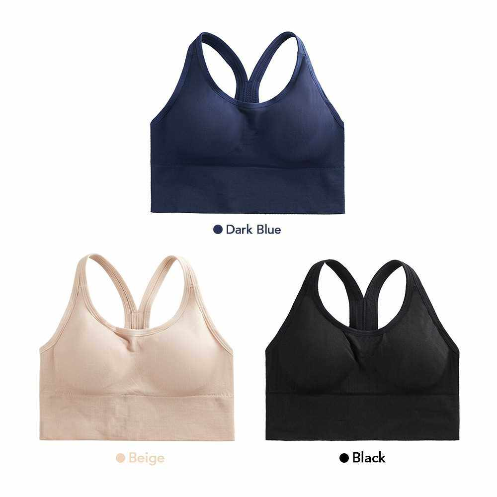 Women Wirefree Padded Yoga Sports Bra Activewear Tops for Yoga Gym Workout Fitness Running (Black)