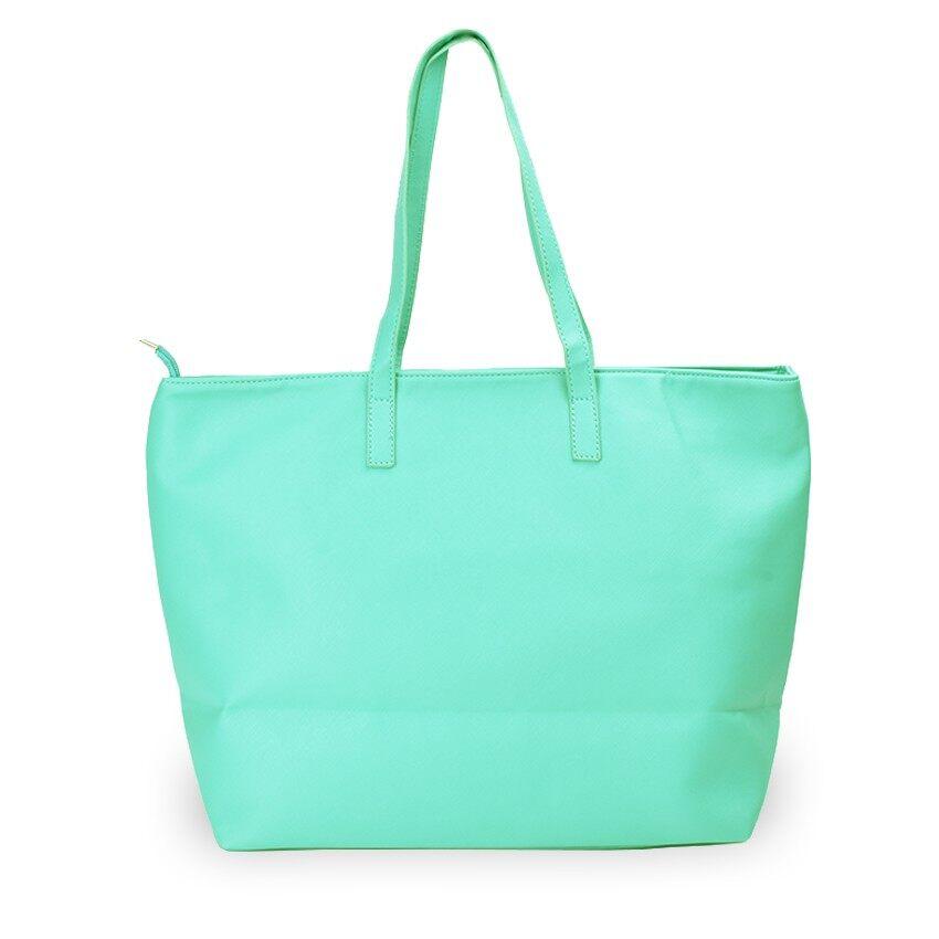 Lulumono Variable Leather Shopping Bag Green
